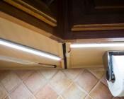 Slim Aluminum Profile Housing for LED Strip Lights: Installed Under Kitchen Cabinets