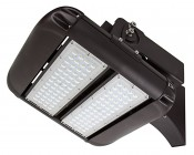 100W LED Area Light - Natural White - 12,500 Lumens: Shown With HPAL-FA Fixed Arm Mounting Kit Installed (Sold Separately).