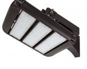 LED Area Light - 160W (500W HID Equivalent) - 5000K/3000K - 20,000 Lumens: Shown With HPAL-FA Fixed Arm Mounting Kit Installed (Sold Separately).