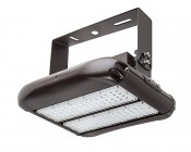 100W LED Area Light - Natural White - 12,500 Lumens: Shown With HPAL-UB High Bay Mounting Bracket (Sold Separately).