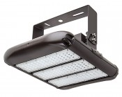 LED Area Light - 160W (500W HID Equivalent) - 5000K/3000K - 20,000 Lumens: Shown With HPAL-UB High Bay Mounting Bracket (Sold Separately).