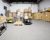 LED Area Light - 300W (850W HID Equivalent) - 5300K - 34,170 Lumens: Installed in Warehouse Behind Camera