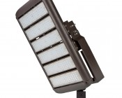 LED Area Light - 300W (850W HID Equivalent) - 5300K - 34,170 Lumens: Attached to Slim Fit Bracket
