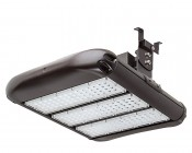 LED Area Light - 160W (500W HID Equivalent) - 5000K/3000K - 20,000 Lumens: Shown with Surface Mount Bracket HPAL-SM (Sold Separately).