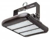 LED Area Light - 160W (500W HID Equivalent) - 5000K/3000K - 20,000 Lumens: Shown With HPAL-UB-IH High Bay Mounting Bracket And Eye Bolt (Sold Separately).