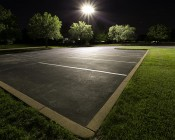 LED Parking Lot Light - 200W LED Shoebox Area Light - 600W HID Equivalent - 23,700 Lumens: Shown In Warm White.
