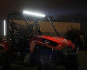 """20"""" Compact Off Road LED Light Bar - 54W Installed On Side Rail."""