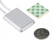 iTouch 12~24 Volt DC Touch LED Dimmer - 6 Amps: Back View Showing Included Foam Mounting Pad With Size Comparison