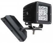 """Jeep Cherokee XJ (84-2001) A-Pillar LED Light Mounts - 3"""" Square LED Auxiliary Lights: Shown With Mini Aux Light"""