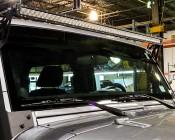 07-16 Jeep JK LED Light bar Steel Metal Upper Windshield Mounting Brackets