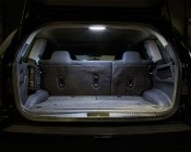 "6"" Rectangular LED Dome Light Fixture With Switch: Installed in Back of Jeep"