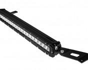 "Jeep Wrangler JK and JK Unlimited (07-2012) LED Light Bar Hood Mounts - Straight 20"" Single Row LED Light Bars"