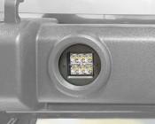 """Jeep Wrangler JK Unlimited (07-2015) LED Fog Light Mounts - 3"""" Square LED Fog Lights"""
