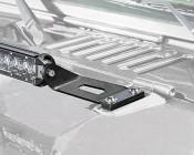 "Jeep Wrangler JK and JK Unlimited (07-2016) LED Light Bar Hood Mounts - Straight 20"" Single Row LED Light Bars"