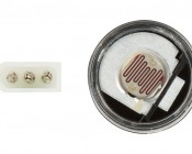 Photocell Dusk-to-Dawn Sensor: Three Prong Connection And Exposed Sensor Shown