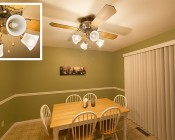 LED Filament Bulb - A19 LED Bulb with 8 Watt Filament LED - Dimmable: Installed In Kitchen Ceiling Fan