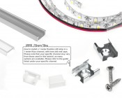 How To Install A LED Light Strip In To a 1 Meter Klus Channel And Mount. Mounting accessories sold separately. See accessories tab for options.
