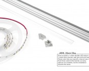 How To Install LED Light Strip Into Klus Channels And Mount With Mounting Clips.