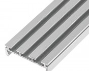 Klus B4574 - GIP series Surface Mount Anodized Aluminum LED Profile Housing: Bottom View