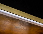STOS-ALU series Angled Surface Mount Aluminum Klus LED Profile Housing STOS-ALU: Installed With  NFLS-RGBNW300X3 Under Bar