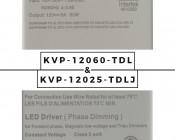 Dimmable LED Driver - Enclosed Power Supply - 25-60W - 12 Volt DC: Label Comparison