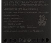 Dimmable LED Driver - Enclosed Power Supply - 120W - 12 Volt DC: Product Label