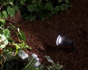 MR16 LED Bulb - 4 LED Spotlight Bi-Pin Bulb: Shown Installed In Spot Light Fixture In Natural White.