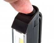 LarryC LED Work Light - NEBO Flashlight: Top Power Button