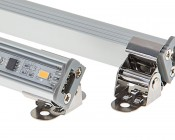 LED Linear Light Bar Fixture: Shown with Aimable Clip