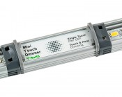 LED Linear Light Bar Fixture: Shown with Touch Dimmer