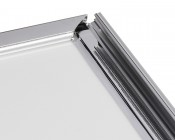 Ultra-Thin LED Light Box w/ Snap-Open Frame - Corner With One Side Open