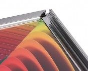 Ultra-Thin LED Light Box w/ Snap-Open Frame and Custom-Printed Luxart® Graphic