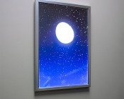 Ultra-Thin LED Light Box w/ Snap-Open Frame: Illuminated Inside Of Office