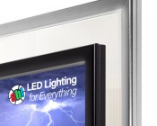 """Ultra-Thin LED Light Box w/ Snap-Open Frame and Custom-Printed Luxart® Graphic - Even-Glow® Light Fixture - Wall Mount - 15""""x22"""", 32""""x22"""""""