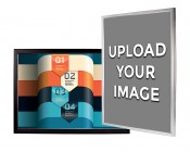 Ultra-Thin LED Light Box w/ Snap Frame and Custom Printed Image