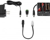 LC2 series Strips Plug and Play CPS Adapter Cable: Compatible With Multiple DC Jack Power Suppies