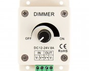 LDK-8A 12~24 Volt DC Single Color LED Dimmer: Front View