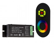RGB LED Controller - Wireless RF Touch Color Remote with Dynamic Modes - 6 Amps/Channel