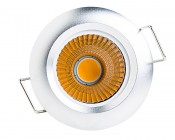 8 Watt COB LED Recessed Light Fixture - Bridgelux COB: Front View