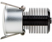 8 Watt COB LED Recessed Light Fixture - Bridgelux COB: Profile View