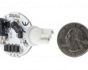 921 LED Bulb - 2 Watt (20 Watt Equivalent) Miniature Wedge LED Disc - White: Back View