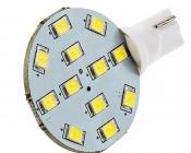 921 LED Bulb, 12 LED Disc Type Wedge Base LED Bulb