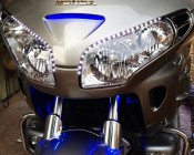 Weatherproof High Power LED Flexible Light Strips on Customer's Motorcycle