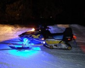 Battery Powered LED Light Strips Kit - Single Color - 2 Portable LED Light Strips: Installed on Snow Mobile