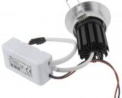 8 Watt COB LED Aimable Recessed Light Fixture - Bridgelux COB V2: Back View.
