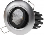 8 Watt COB LED Aimable Recessed Light Fixture - Bridgelux COB V2: Showing Aimable Feature.