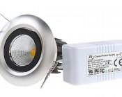 8 Watt COB LED Aimable Recessed Light Fixture - Bridgelux COB V2