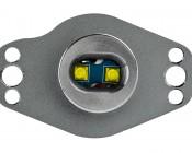BMW LED Angel Eye Replacement Kits - BMW E90 CREE 10W LED: Front View