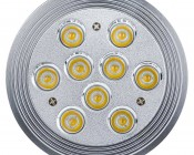 LED AR111 Flood Lamp - 9x1W LEDs: Showing Front Of Flood Lamp