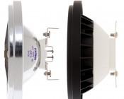 LED Weatherproof AR111 Spot Lamp - with Halogen AR111 for comparison